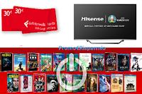 """Concorso La Feltrinelli : vinci 1680 Gift Card da 30 euro e Smart TV Hisense 4K 65"""" ( valore 1000 euro)"""