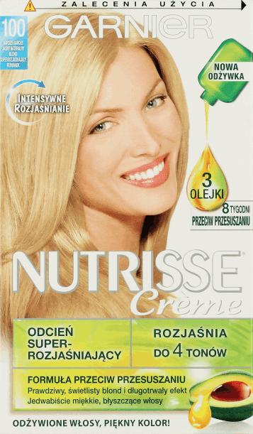 Garnier Nutrisse Creme nr 100 Bardzo Bardzo Jasny Naturalny Blond