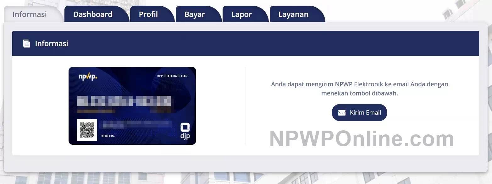 Cetak NPWP Elektronik