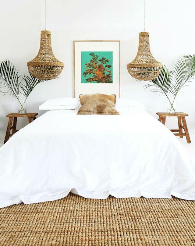 Dormitorio con detalles en fibra