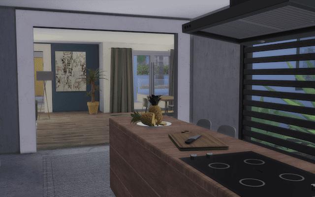 cuisine deco Sims 4