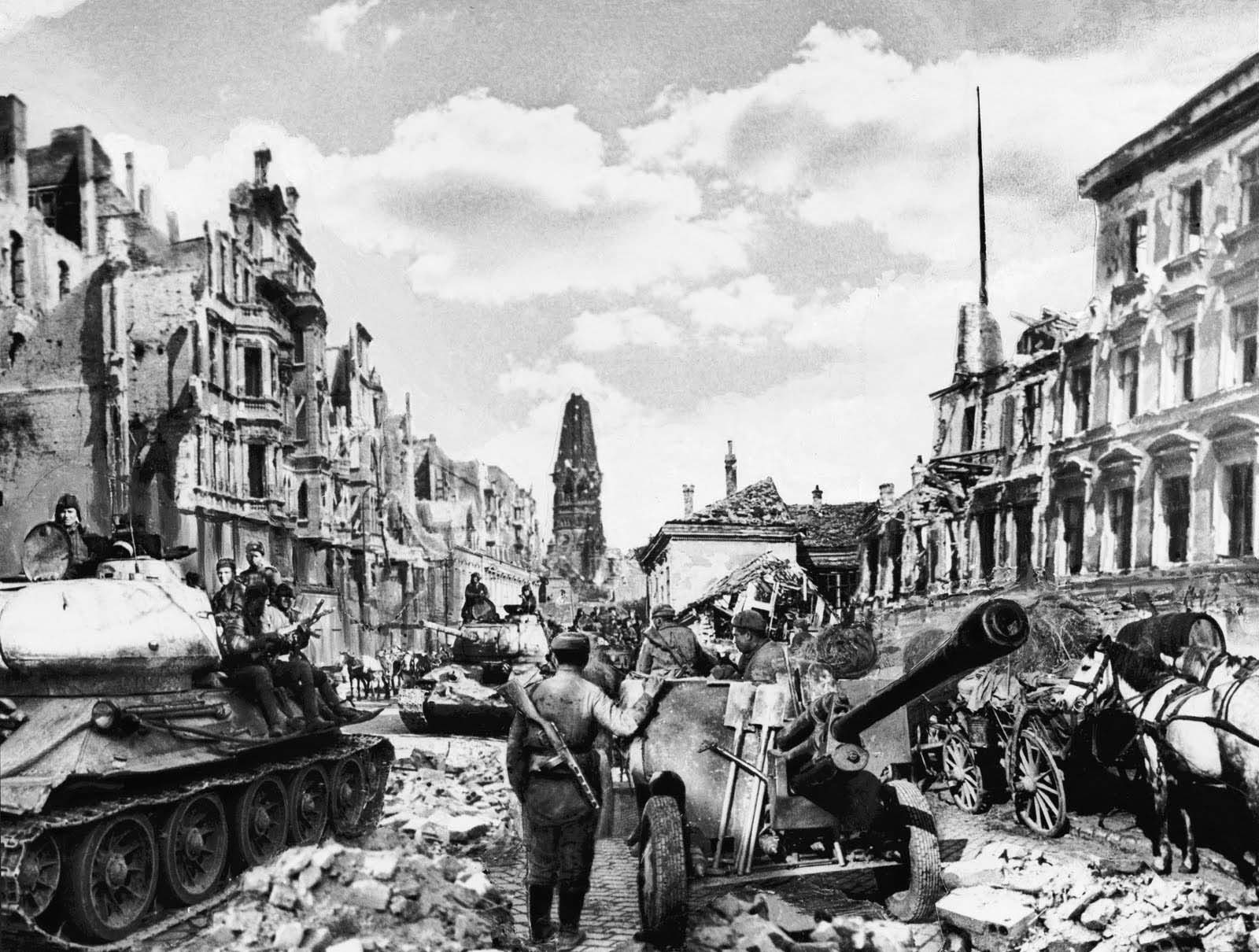 Overall, Berlin was bombed 363 times by British, American and Russian aircraft.