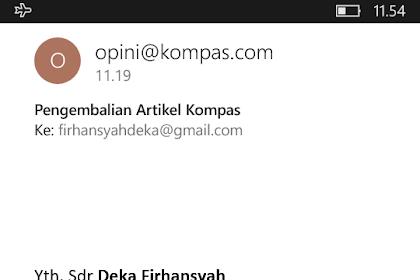 "Peta Pergerakan Politik Indonesia,  antara Pilihan Partai atau Jalur Independen dalam hal ""Mahar Politik"" | Karya Tulisan Deka Firhansyah yang dikembalikan Kompas pada Senin, 29 Januari 2018"