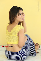 Cute Telugu Actress Shunaya Solanki High Definition Spicy Pos in Yellow Top and Skirt  0378.JPG