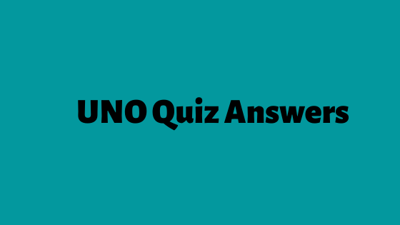 UNO Quiz Answers