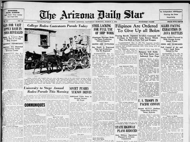 Arizona Daily Star, 7 March 1942 worldwartwo.filminspector.com