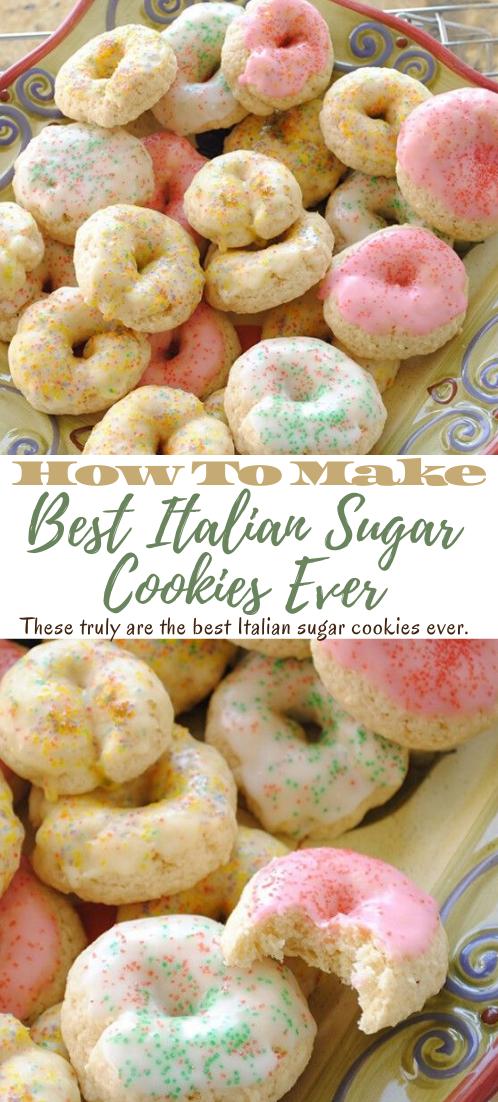 Best Italian Sugar Cookies Ever #desserts #cakerecipe #chocolate #fingerfood #easy