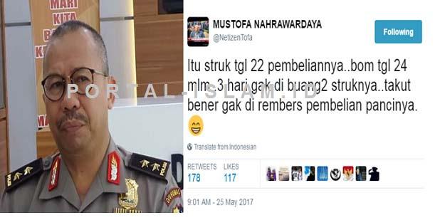 Netizen Ngakak Bareng Saat Polisi Sebut Temukan Bukti Struk Pembelian PANCI Pelaku Bom