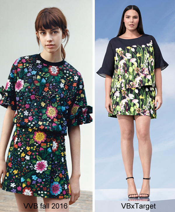 Victoria Beckham for Target photo floral top and skirt