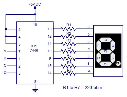Electrical and Electronics Engineering 7446 seven segment decoder
