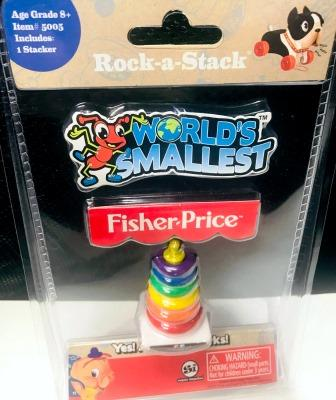 World's Smallest Fisher Price Rock-a-Stack in packaging