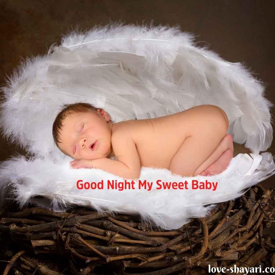 romantic good night baby images