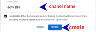 create youtube channel from