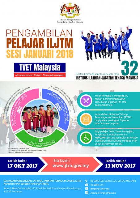 Permohonan Kemasukan ILJTM 2018 Online