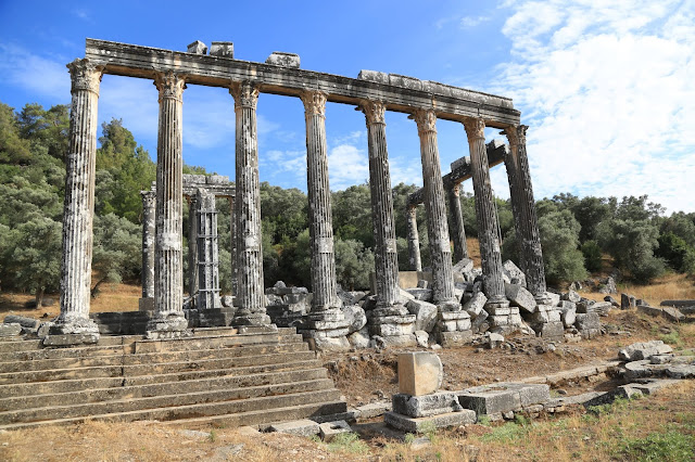 Temple of Zeus Lepsinos in ancient city of Euromos in SW Turkey to be restored