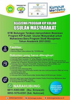 Beasiswa Program KIP Kuliah Usulan Masyarakat TA 2021-2022