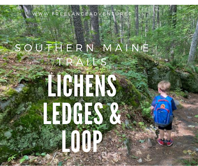 Beautiful kid friendly hike in southern maine