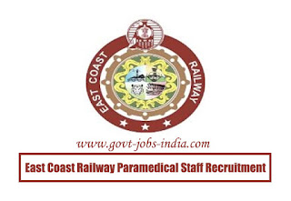 East Coast Railway Paramedical Staff Recruitment 2020