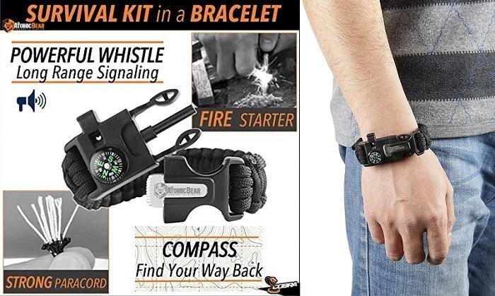 Atomic Bear Cobra - #1 Best Survival Paracord Bracelet