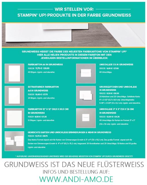 Stampin Up das neue Grundweiß ist bestellbar PDF