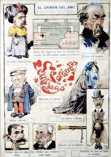 El Crimen del Año - José Maria Cao (1908), Museo do Humor, Buenos Aires