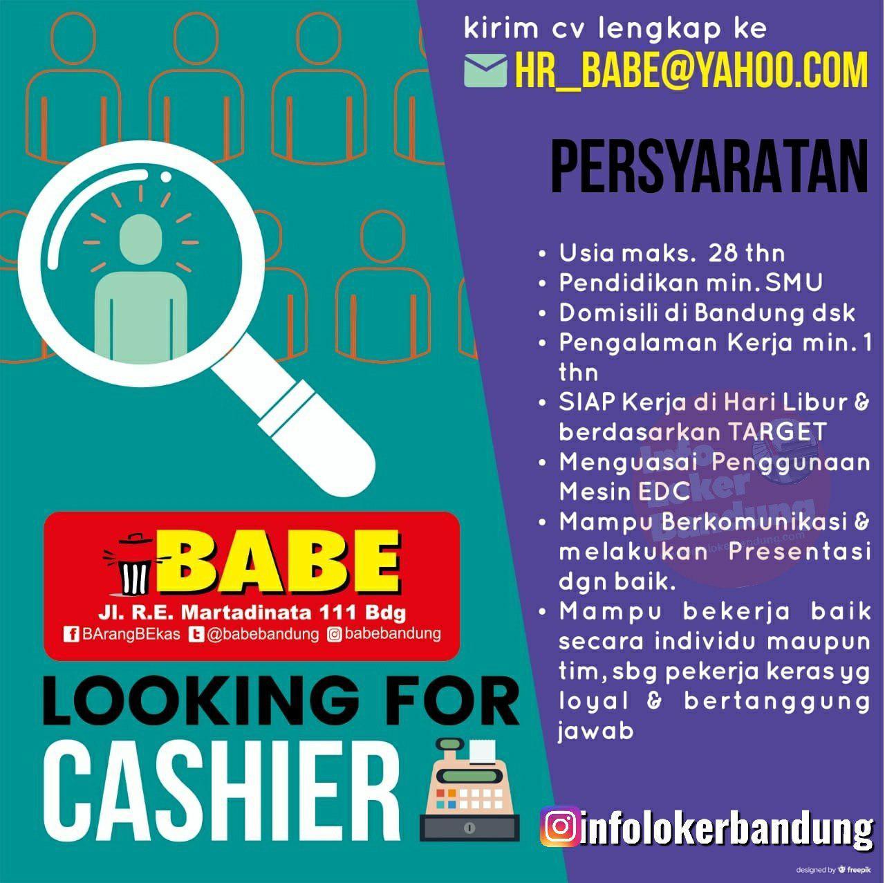 Lowongan Kerja Babe (Barang Bekas) Bandung Juni 2019
