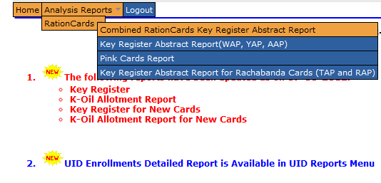 Ap ration card details
