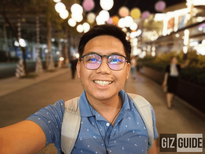 Selfie portrait mode lowlight