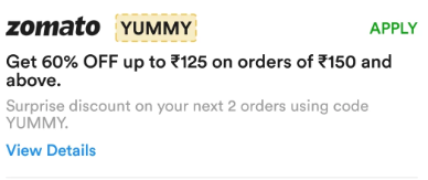 Zomato new offer