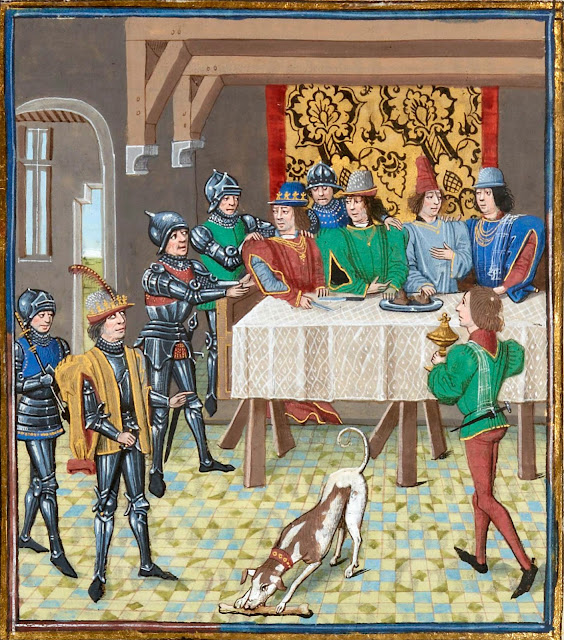 Représentation de la soirée de Charles V interrompu par Jean II