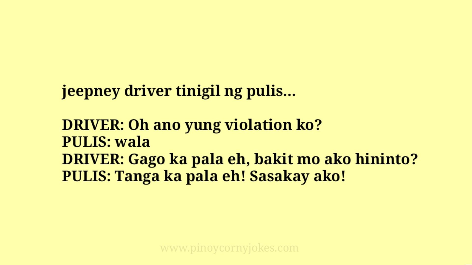 jeepney tagalog jokes police