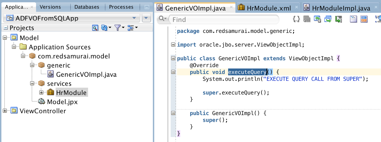 Andrejus Baranovskis Blog: ADF BC - Create View Object From Query