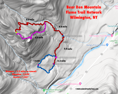 Adirondack Family Time Bear Den Trail Map