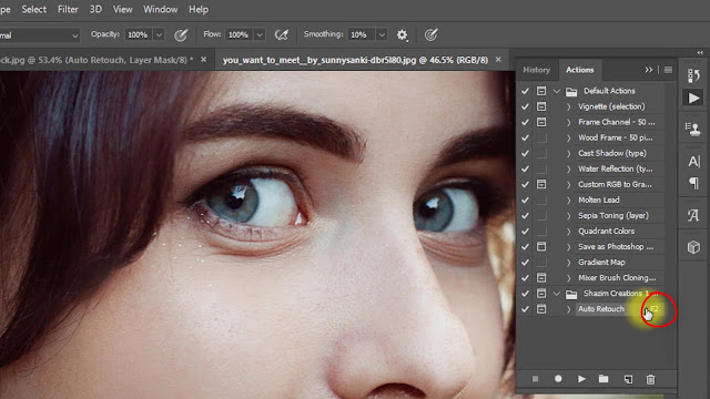 Magic Screen retouching Actions Screenshot