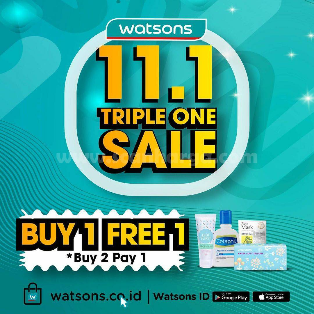 Watsons Spesial Promo 11.1 Triple One Sale