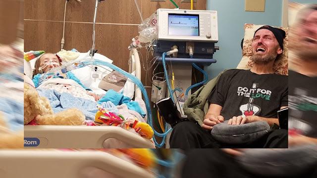 Жестокая реальность детского рака: дедушка рыдает около умирающей 5-летней крохи