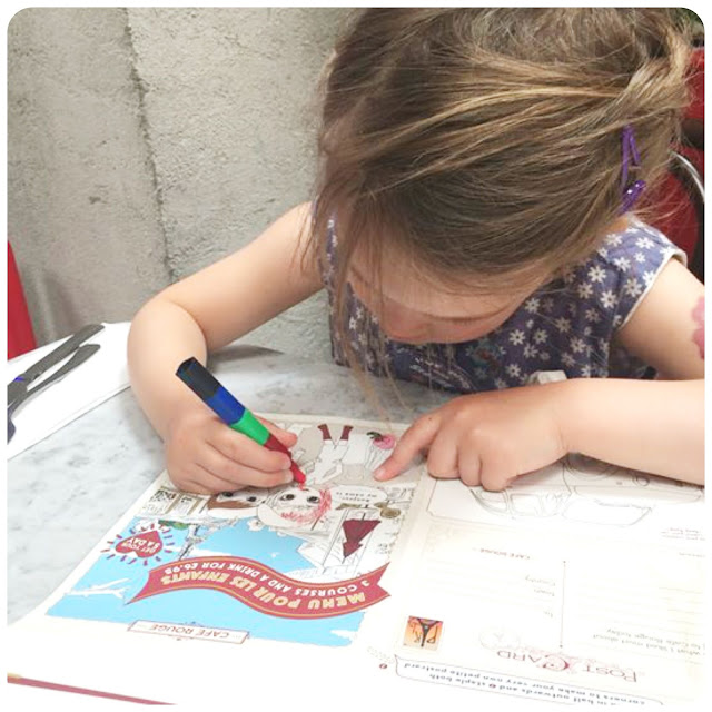 colouring at cafe rouge