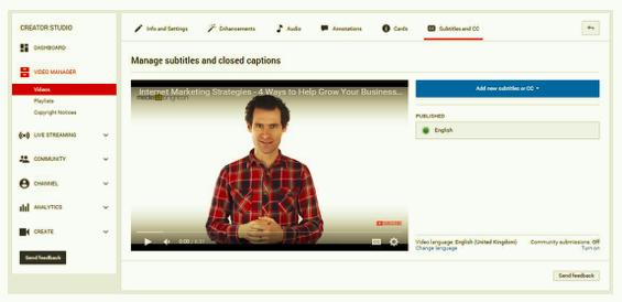 Subtitles & CC
