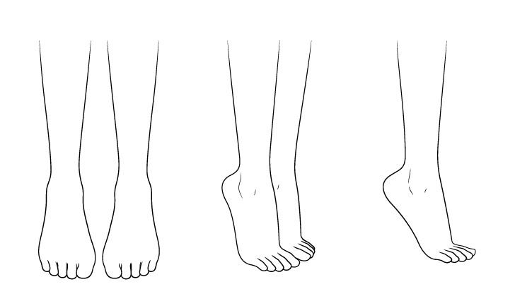 Gambar kaki sepatu hak tinggi anime