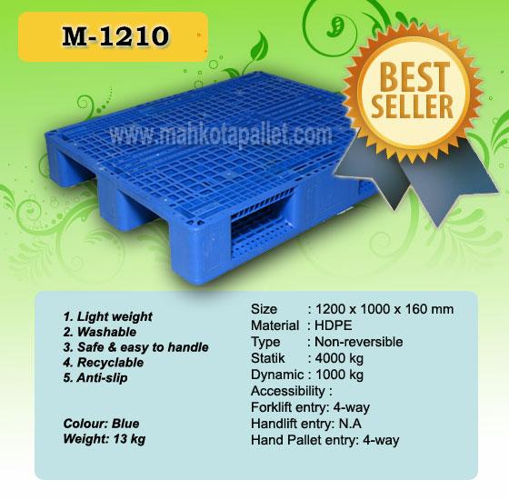 Jual Pallet Plastik M1210 Harga Murah Kuat Tatakan Racking