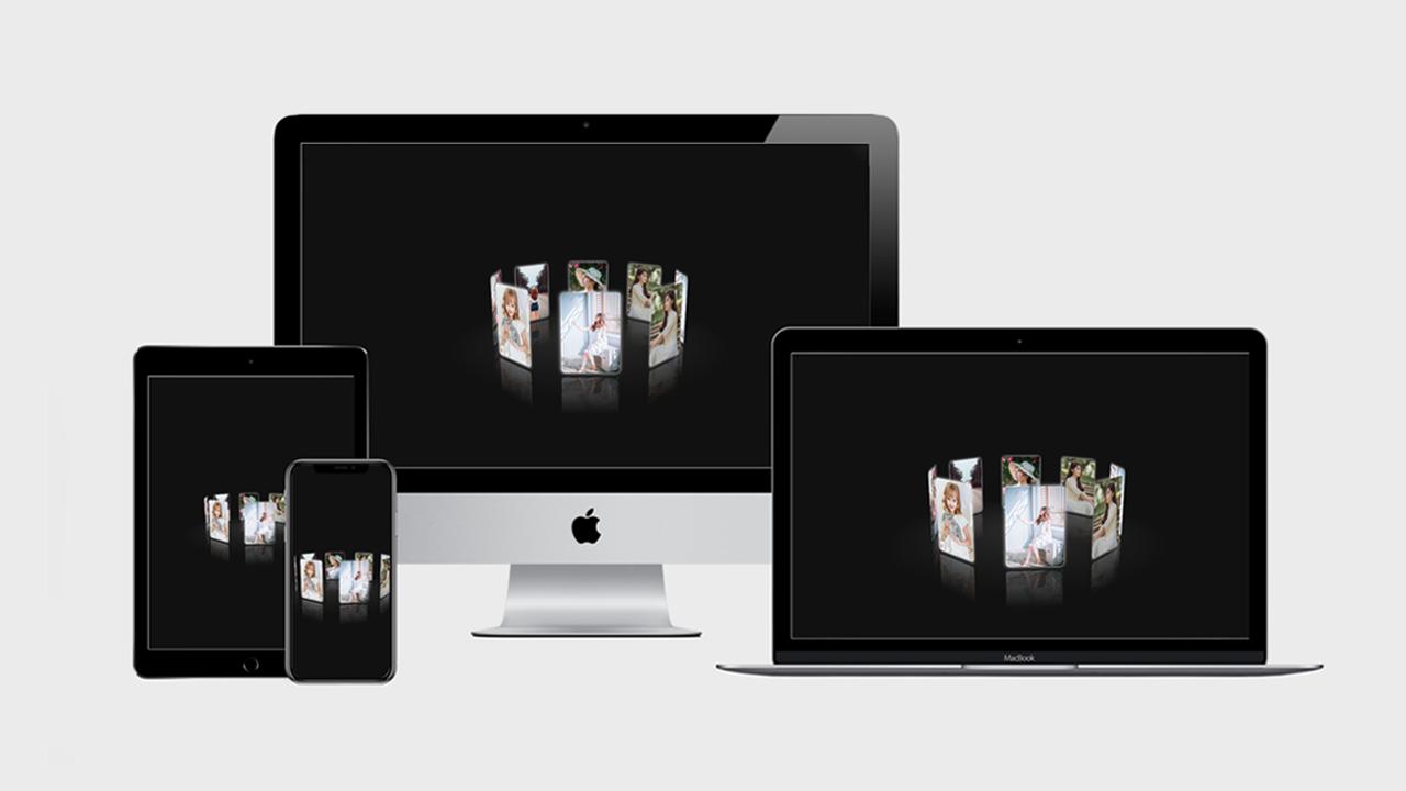 Share template trình chiếu ảnh (3D carousel)