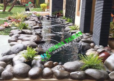 Pembuatan Kolam ikan koi klasik - SuryaTaman