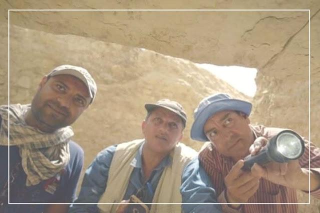 os antropológos e arqueólogos de Saqqara
