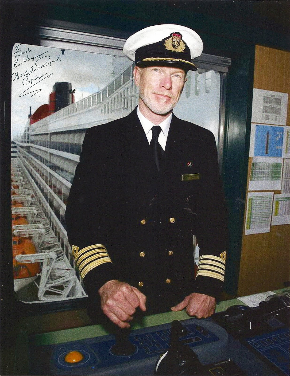 Queen Mary Engine Room: The Captain's Table: Cunard's Newest Commodore