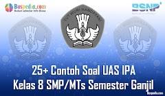 Lengkap - 25+ Contoh Soal UAS IPA Kelas 8 SMP/MTs Semester Ganjil Terbaru