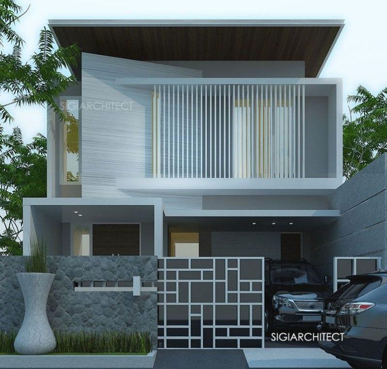 rumah minimalis 2 lantai modern 2021