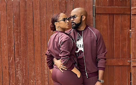 Adesua Etomi and Banky W Twinned in a Matching Tracksuit