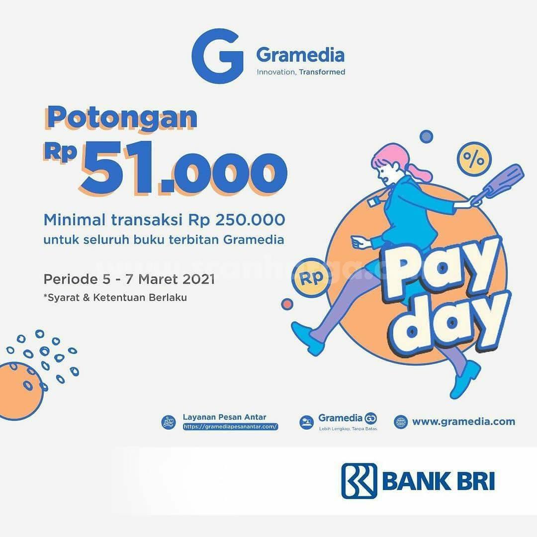 GRAMEDIA Promo PAYDAY! Potongan Rp 51.000 dengan Kartu Debit BRI