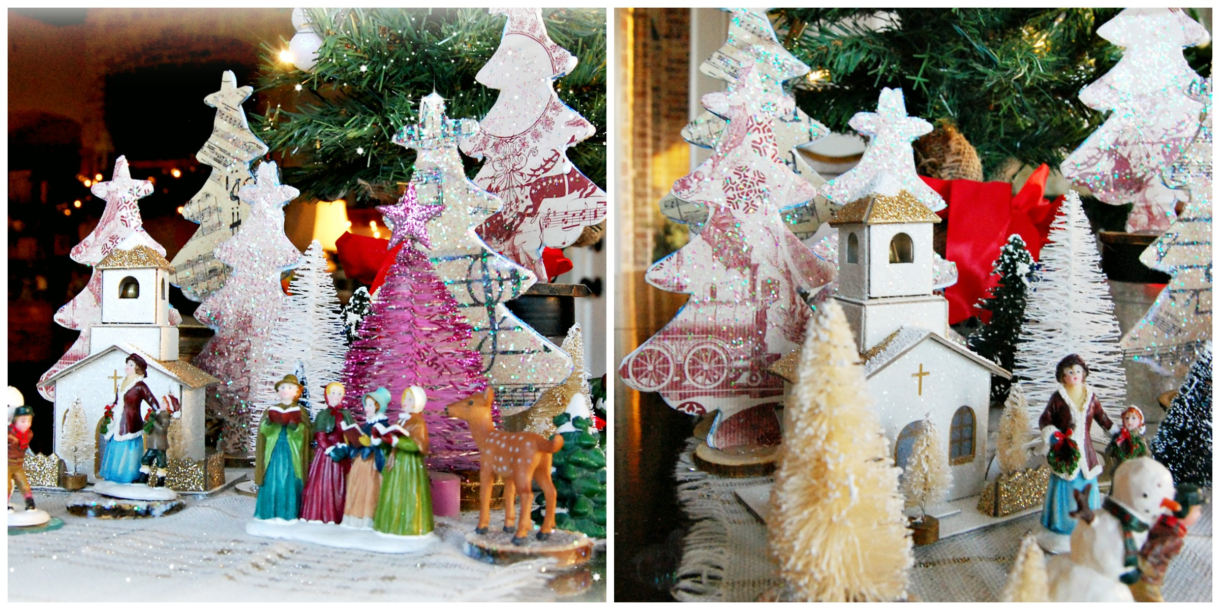 Christmas, vignette, craft, paper, athomewithjemma