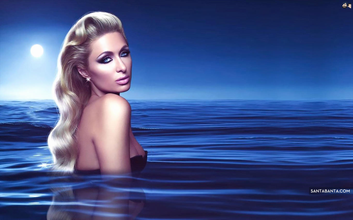 Paris Hilton Beautiful Hair Style HD Wallpaper